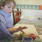 Finger Paint & Child
